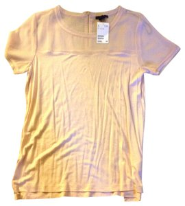 H&M Sheer T Shirt Pale pink with zipper