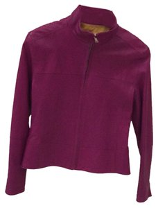 Andrew Marc Leather Purple Leather Jacket