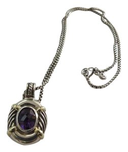 David Yurman Albion Collection Amethyst Pendant Enhancer; 18