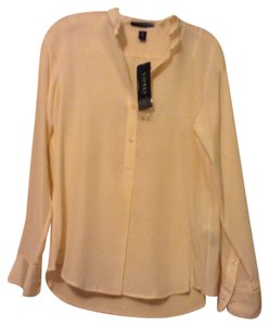 Ralph Lauren pure silk Button Down Shirt Nude natural