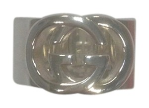 318e4ed84 Gucci Gucci wide band with interlocking GG motif - item med img. Gucci. Sterling  Silver Wide Band with Interlocking Gg Motif Ring