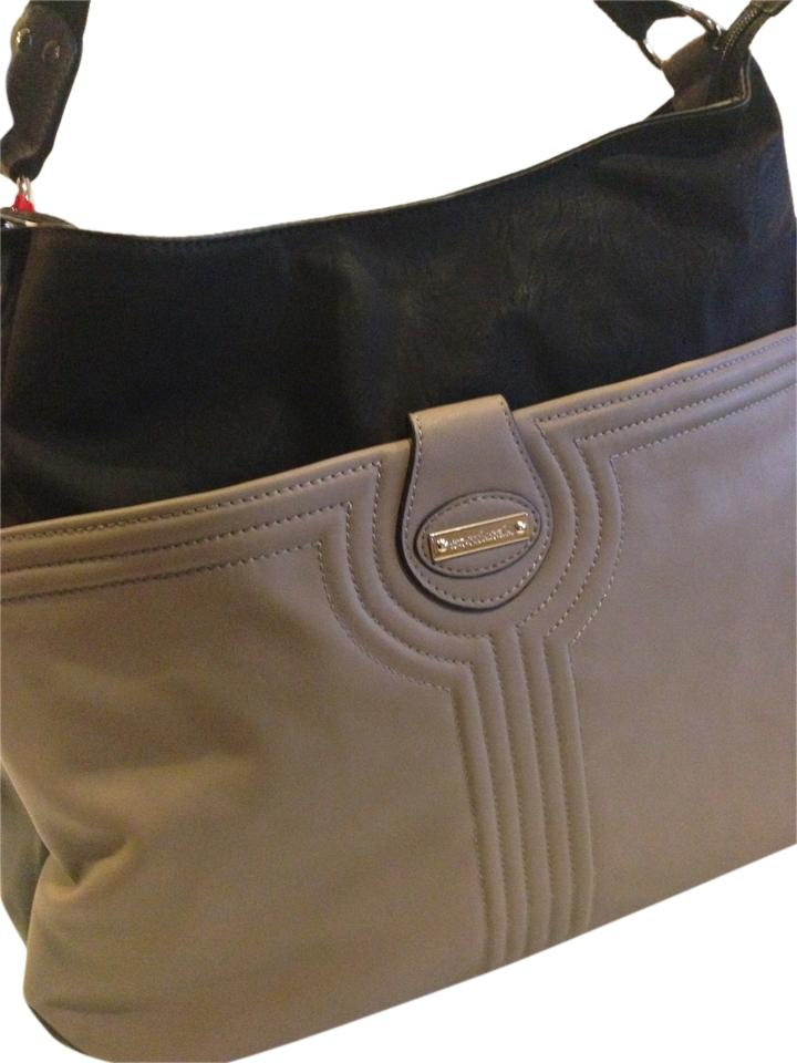 storksak nwt nina taupe and black diaper bag on sale 25