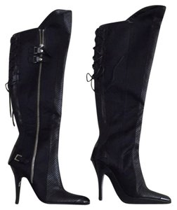 Vicini Over The Knee Sexy Black Boots