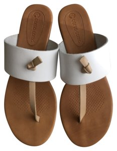 Ballasox by Corso Como Flats Flip Flops Nicos Nicos Nicos Flats Nicos Flip Flops Leather Leather Flip Flops And Thongs Leather While / Nude Sandals