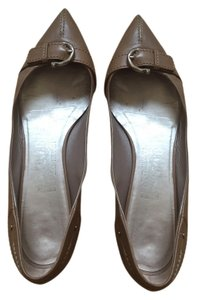 Salvatore Ferragamo Leather tan Flats