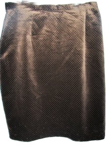 BCBG Paris Skirt brown with polka dot