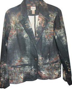 Chico's blue print Jacket