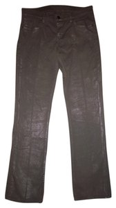 Old Navy Flirt Shiny Stretchy Straight Leg Jeans-Coated