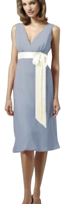 Item - Cloudy / Ivory 2503 Mid-length Cocktail Dress Size 8 (M)