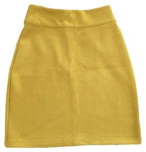 Silence + Noise Mini Skirt Mustard