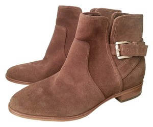 Michael Kors Brown Suede Leather New Brandnew Gold Hardware Brand New New York Tan Boots