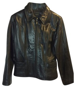 Guess Blac Leather Jacket
