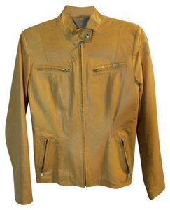 Modigliani Light orange Leather Jacket
