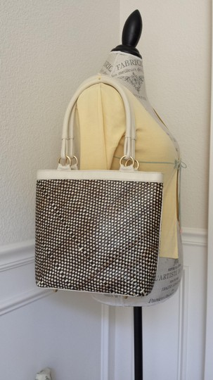 Alejandro Ingelmo Leather Tote in Brown and White