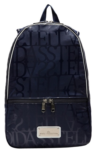 Item - Blue Grey Rinted Polyurethane Exterior with Poly Fabric Lining Backpack
