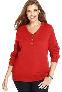 Karen Scott V-neck Buttons Sweater