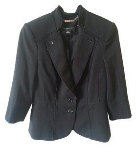 White House | Black Market Jacket Ruffle Black Blazer