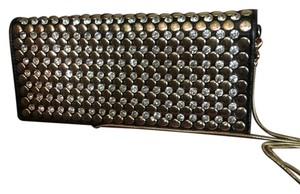 Cache Black /Gold & Rhinestone Accents Clutch