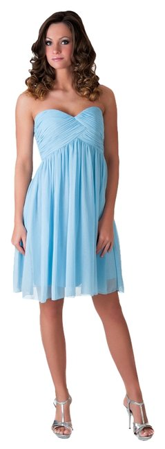Preload https://item3.tradesy.com/images/blue-strapless-sweetheart-pleated-bust-chiffon-knee-length-formal-dress-size-2-xs-987517-0-0.jpg?width=400&height=650