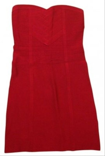 bebe Red Mini Night Out Dress Size 10 (M) bebe Red Mini Night Out Dress Size 10 (M) Image 1