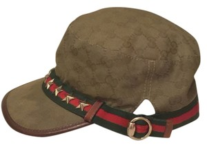 Gucci Gucci Monogram Hat with Silver Hardware