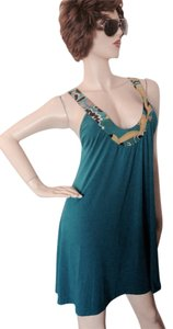 Karen Zambos short dress Teal Bohemian V-neck Eclectic Coachella on Tradesy