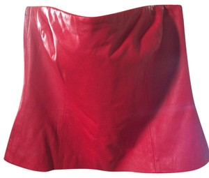 Dana Buchman Top red leather