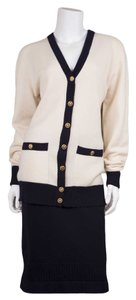 Chanel Cashmere Two Tone Sweater Set