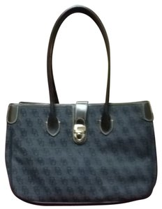 Dooney & Bourke Satchel in Grey/Black DB Monagr