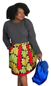 Chic Therapy Skirt African Print Multi-color