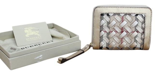 Item - Gold Ziggy Woven Leather Wallet