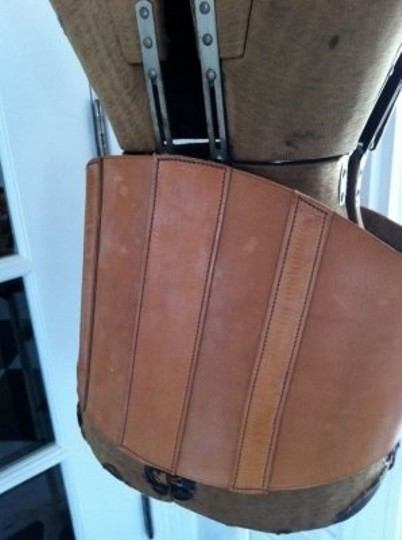 vintage vintage french leather corset belt