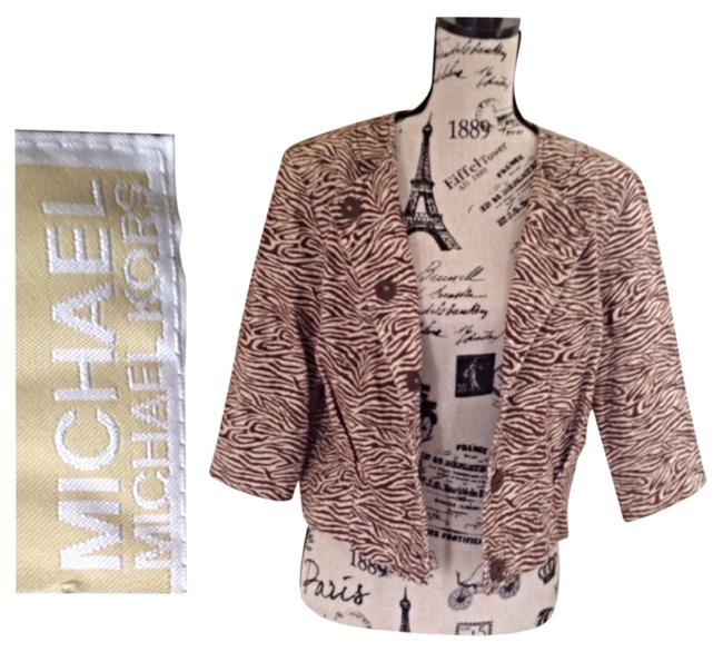 Michael Kors Cream & Brown Blazer