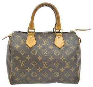 Louis Vuitton Leather Vintage Satchel in Monogram