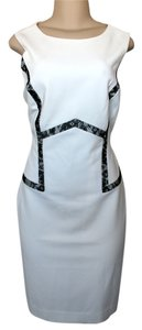 The Limited short dress Cream/Black Lace Office Attire Sleeveless on Tradesy