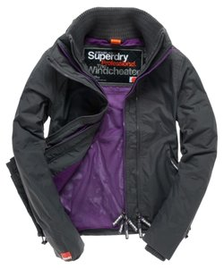Super Dry Thumbholes Light Charcoal/Purple Jacket