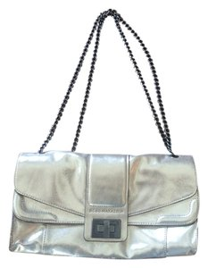 BCBGMAXAZRIA Leather Metallic Shoulder Bag