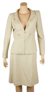 Chanel Chanel Cream Nylon Skirt Suit, Size 40 (59920)