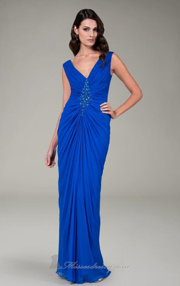 Tadashi Shoji Royal Blue Kn716l Long Formal Dress Size 8 (M) - Tradesy