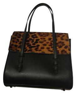 Zara Satchel in BLACK LEOPARD PRINT