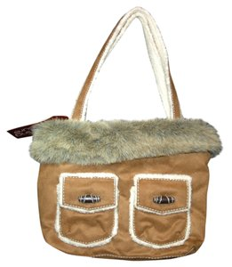 Bath and Body Works Furry Shearling Wood Shoulder Bag