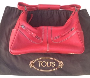 Tod's Miky Textured Leather Shoulder Bag