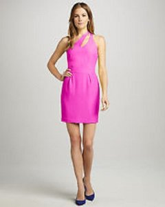 Naven One Neon Bright Mini Cocktail Dress