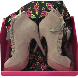 Betsey Johnson Taupe Platforms