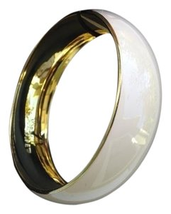 J.Crew Ivory Lacquer Bangle with Gold Hardware
