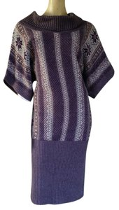 Moda International short dress Mauve Nordic Sweater Knit Cowl Neck on Tradesy