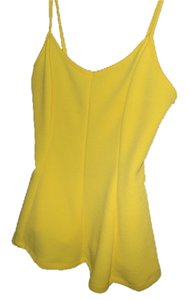 Ambiance Apparel Strappy Yellow Halter Top