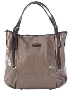 Tod's Taupe Sacca Leather Cross Body Bag