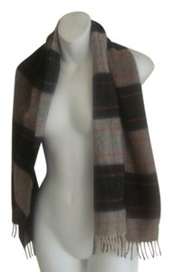 CROMBIE CASHMERE NOVA PLAID CROMBIE SCOTLAND 100% CASHMERE SCARF WRAP SHAWL PLAID NEVER USED