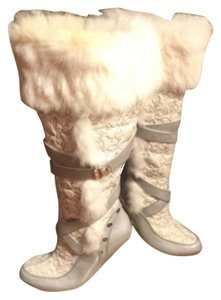 Baby Phat White/Gray/Silvet Boots